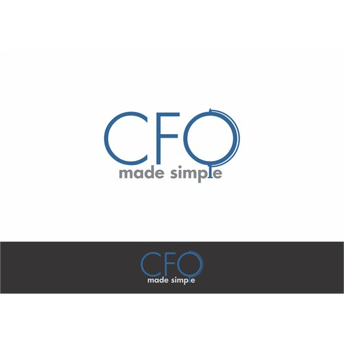 Create a sleek, clean logo for CFOMadeSimple.com