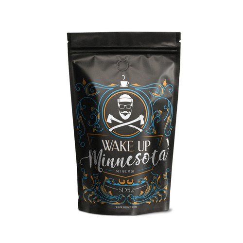 Product Packaging design for 'Wake up Minnesota'
