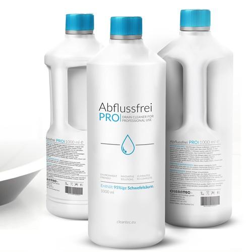 Drain cleaner minimalist package design