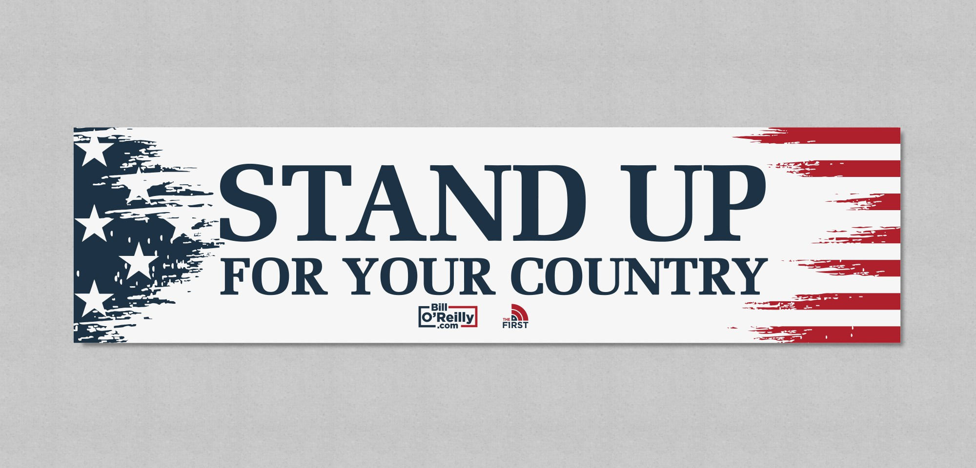 Create a Bumper Sticker for a Patriotic American Audience