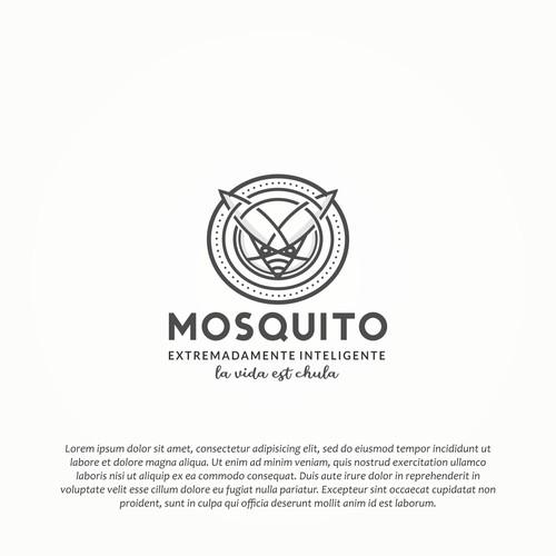 Design character mosquito minimalist