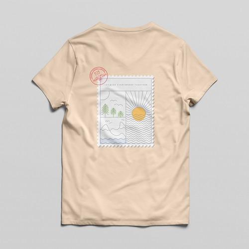 T-Shirt Design for Travel Blog