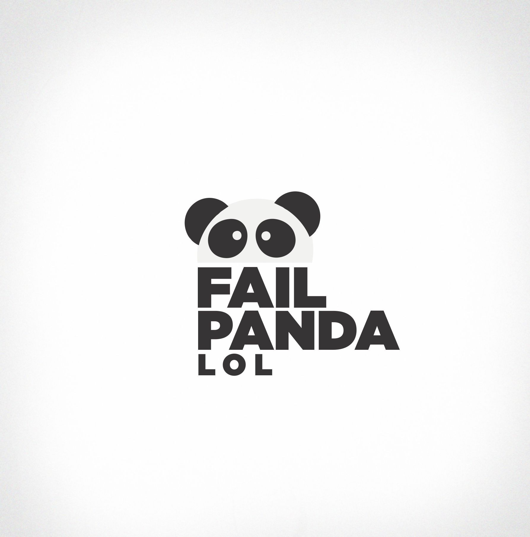 Design the Fail Panda logo for a funny youtube channel