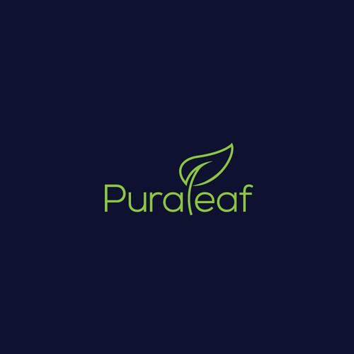 Pura Leaf Logo Design