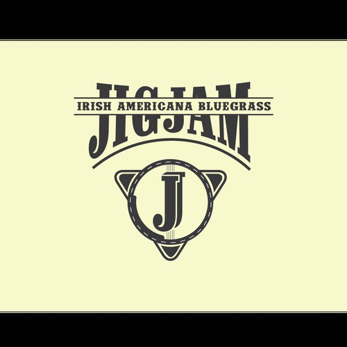 A logo concept for a bluegrass band