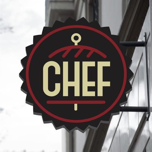 Bold logo concept for halal fast food restaurant