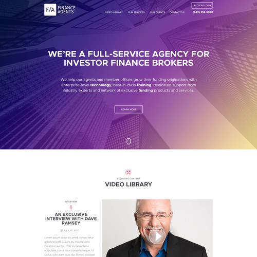 Website for Finance Agents & Commercial Funding Brokers