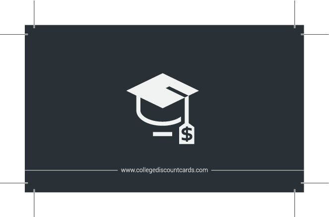 Business card for College Discount Cards company
