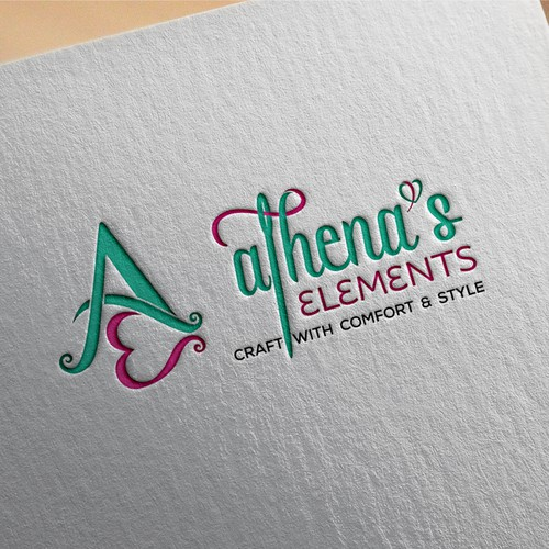 Design a logo for Athena's Elements that attracts crafters and DIYs.