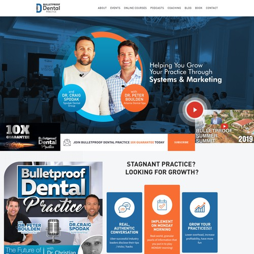 Re-Design of Dental Podcast / Consulting website
