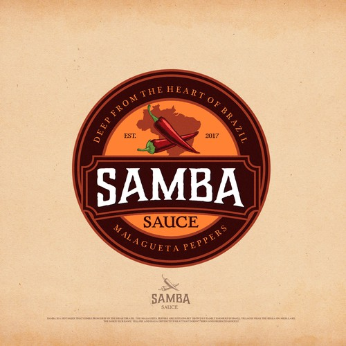 "Logo design concept for ""Samba Sauce"""