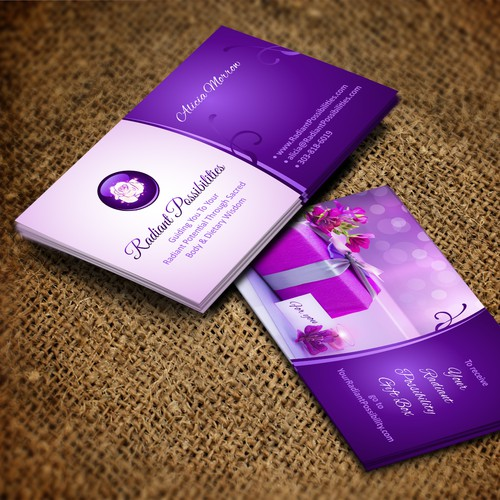 Create an amazing business card for Radiant Possibilities