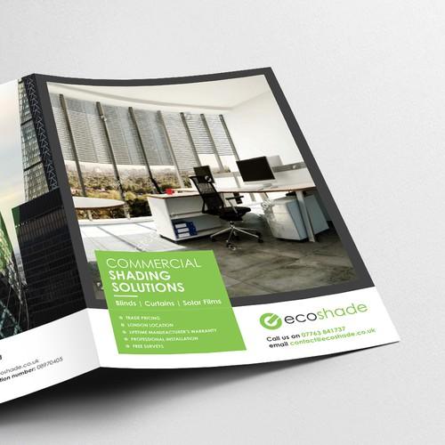 Ecoshade bi-fold brochure design