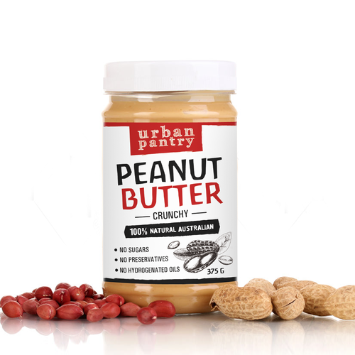Peanut butter, label design