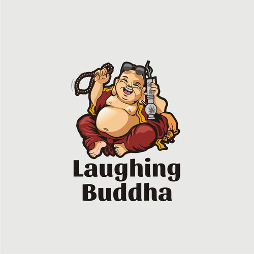 Laughing Buddha, with fun and lighthearted logo
