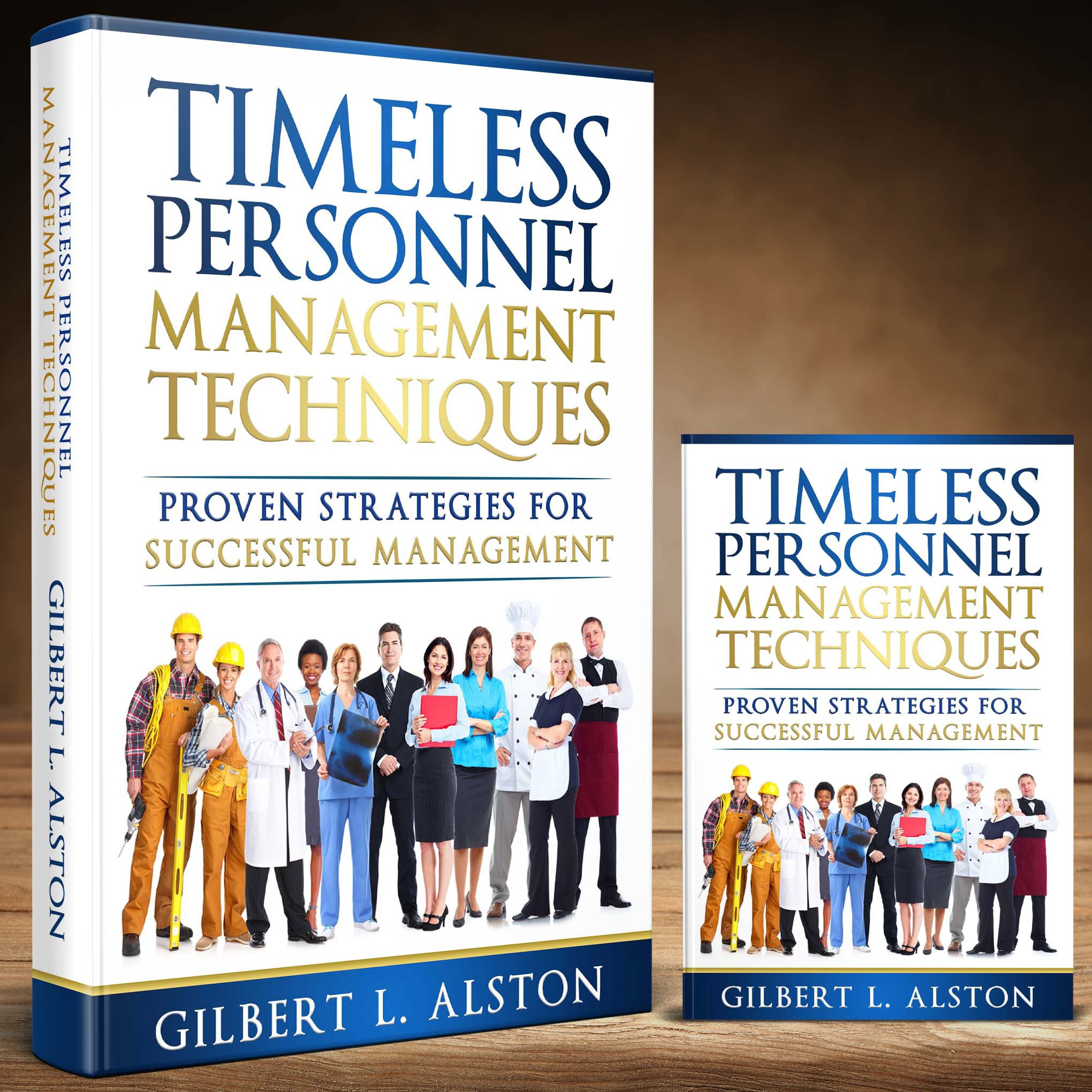 Design a creative and powerful book cover for a book about personnel management.