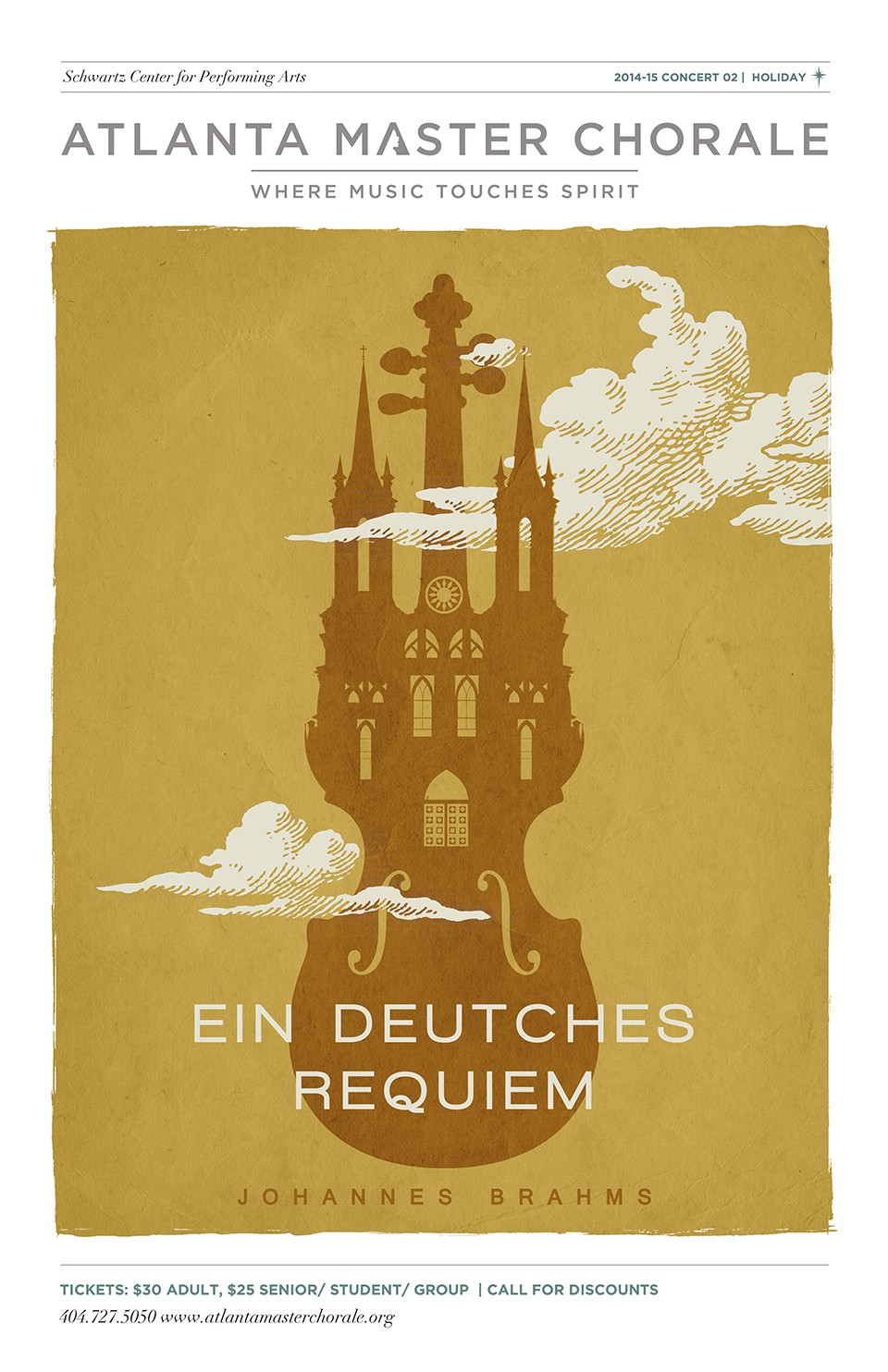 Inspiring Posters for Atlanta Master Chorale