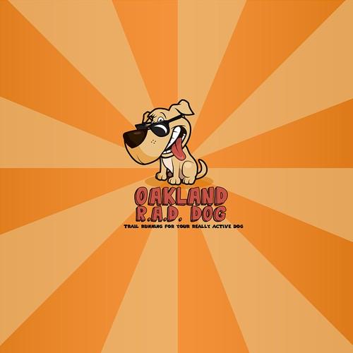 """Awesome dog Logo for """"Rad Dog"""", my new dog walking biz!"""