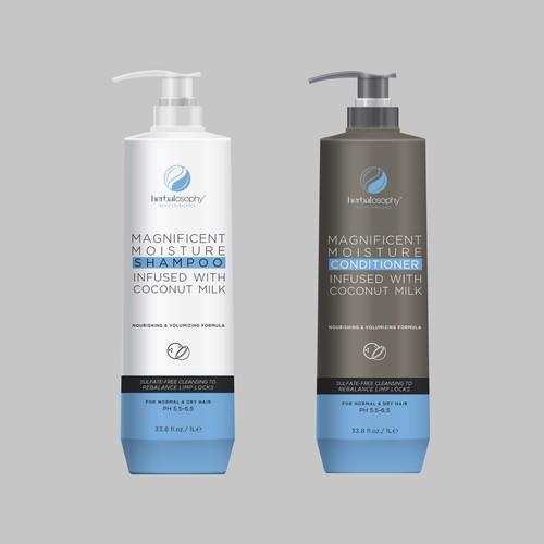 label shampoo