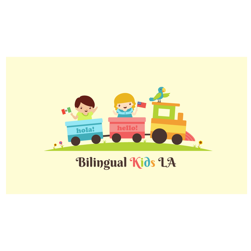 Create a cutesy logo for a company leading the way in Bilingual Education for Kids