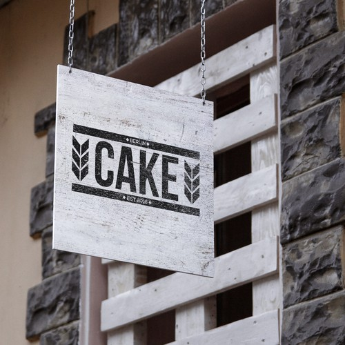 Create a brand identity for our online bakery, cake