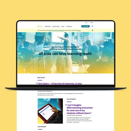 Zearn Webflow Website Design