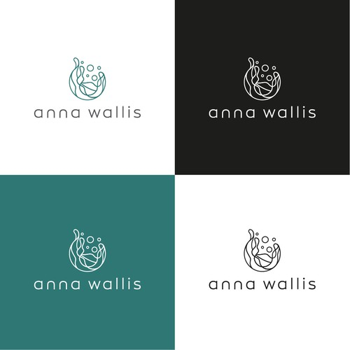 Abstract, motif driven logo for personal development brand.
