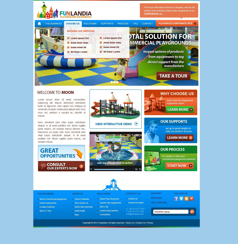 New website design wanted for FUNLANDIA, a children playground equipments manufacturer