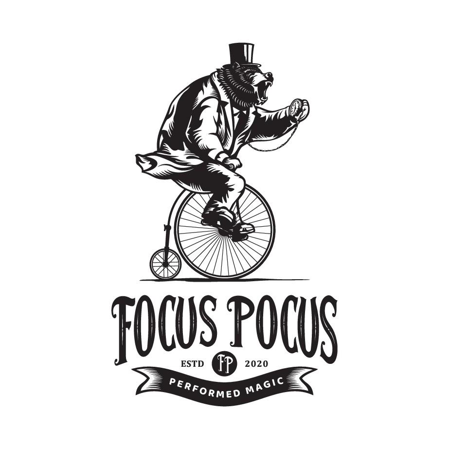 Design a hipster logo for an artisanal website of a high-quality focus-drink
