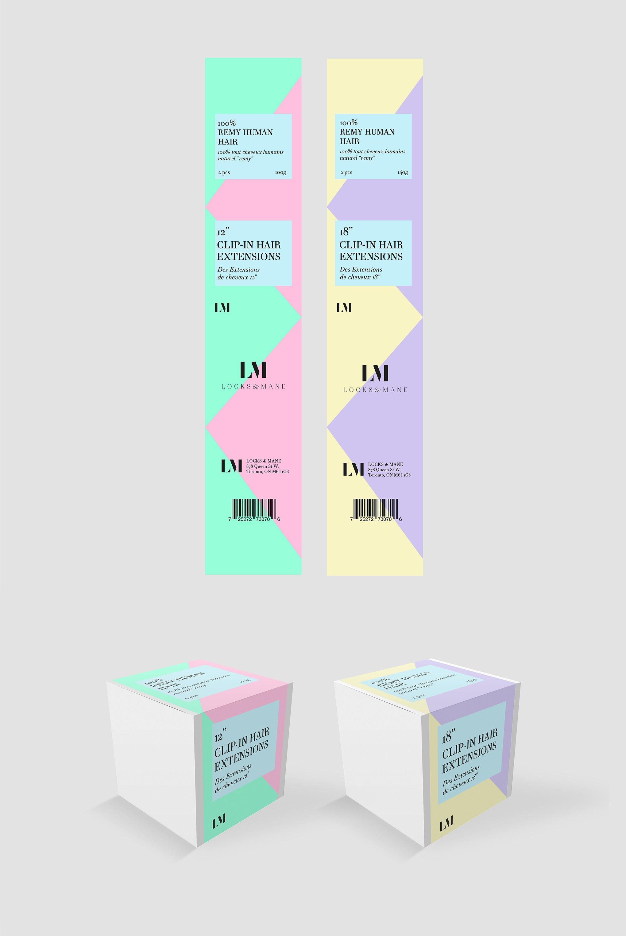 Locks & Mane Packaging