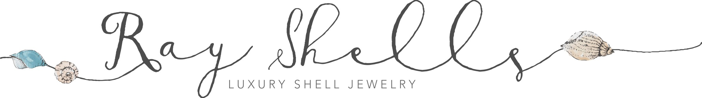 Classy and Fun Beach Logo for Shell Bracelet Company!