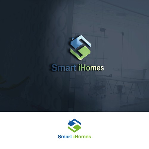 Smart iHomes logo design