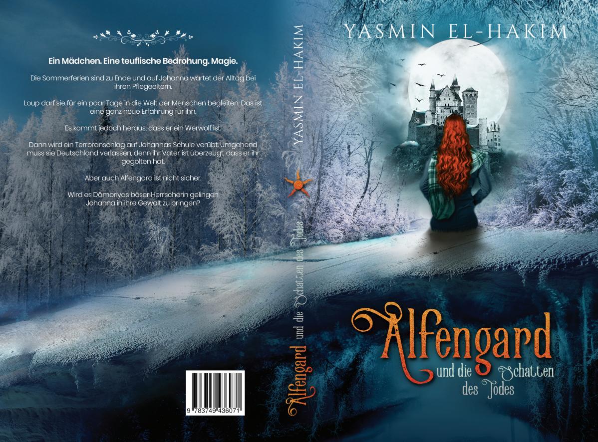cover for fantasy book Alfengard und die Schatten des Todes