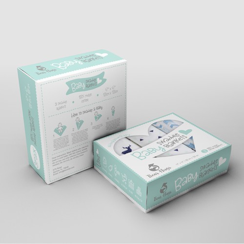 Swaddle blankets packaging design