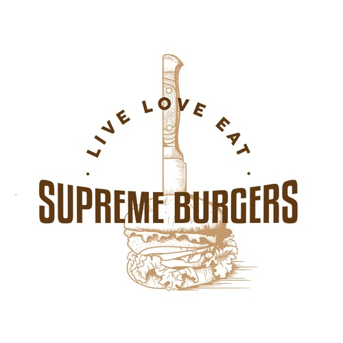Supreme Burger Vintage Logo Illustration