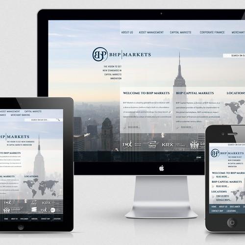 BHP Markets - responsive website design
