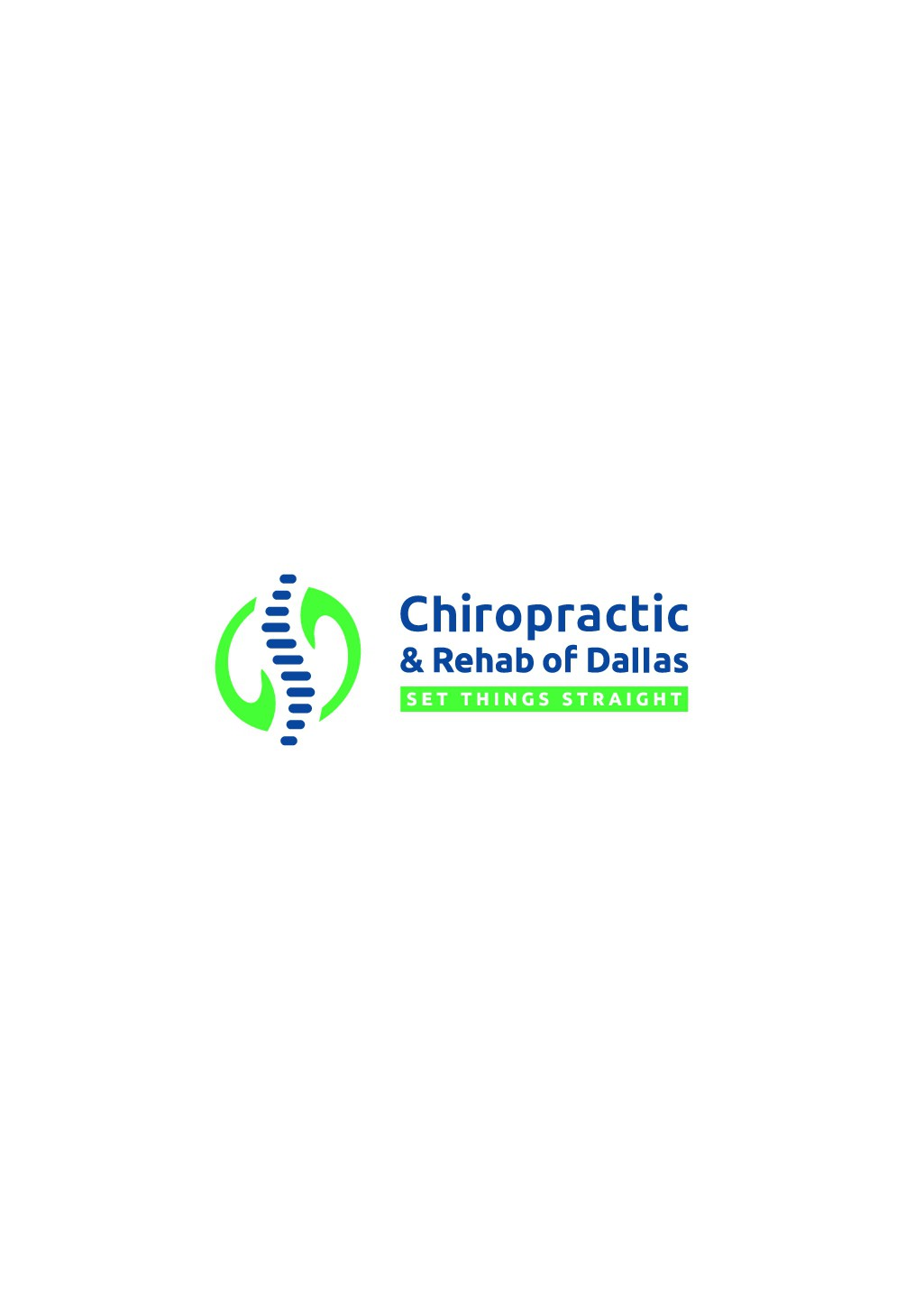 Two Chiropractic offices looking to unify with one logo