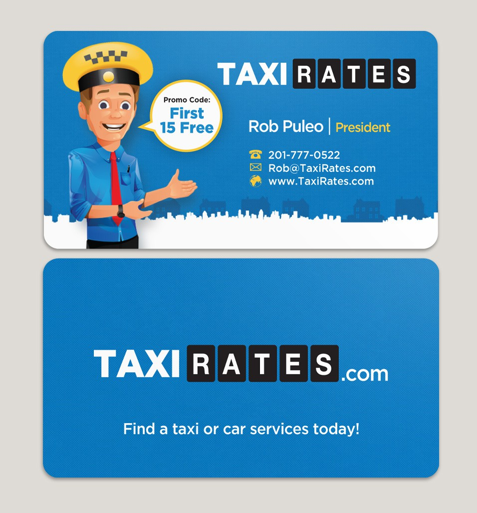 Create the next business card for TaxiRates.com