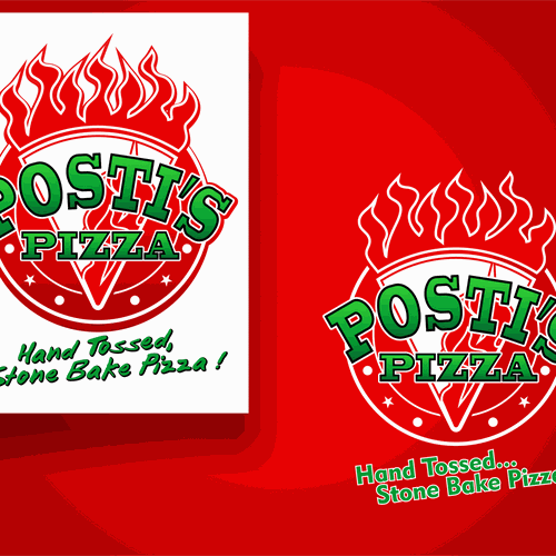 Create a logo for Posti's Pizza