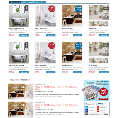 Create Stunning Professional Bath Website
