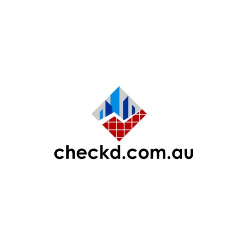A vibrant logo for checkd.com.au.