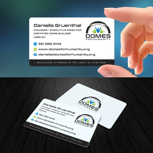 Business card design for Domes For Humanity