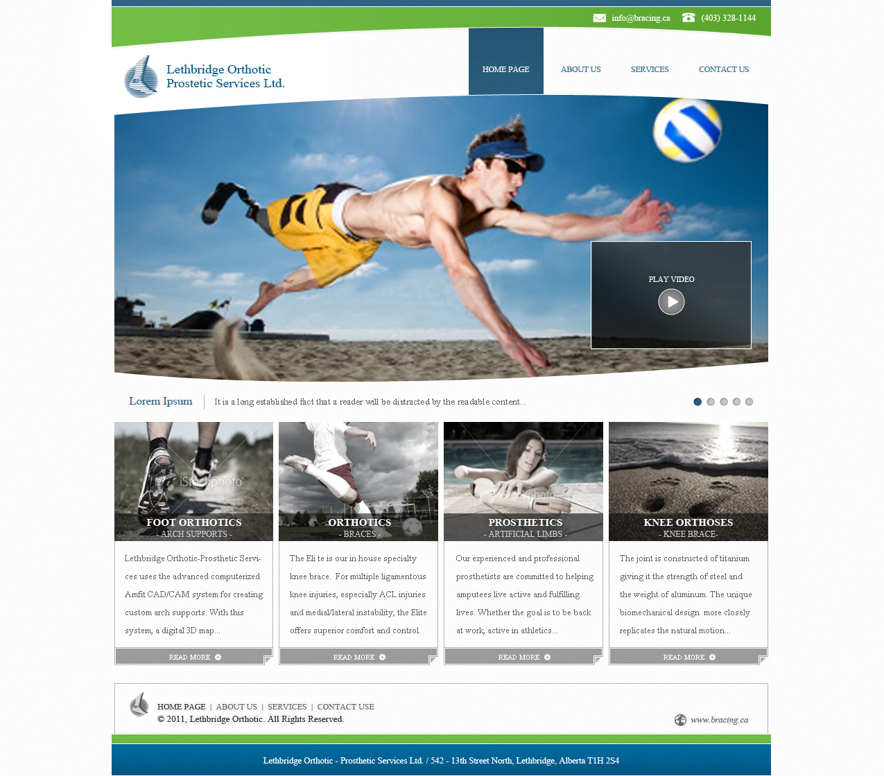 Rocking New Website need Prosthetics Company