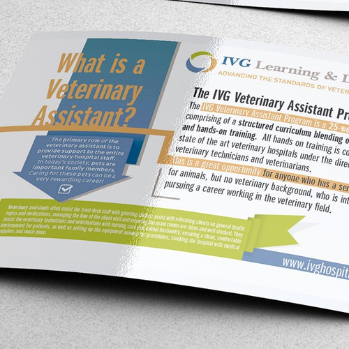 Help us create a Veterinary Training brochure