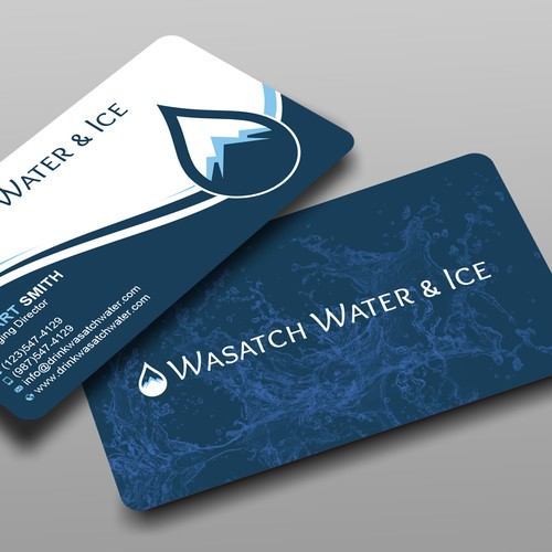 Professional Business Card Design for a New Water Company