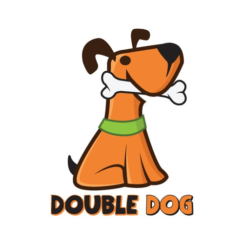 Cool dog mascot for mobile phone challenge app