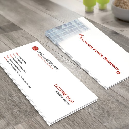 Business Card design for a Public Relation Agency