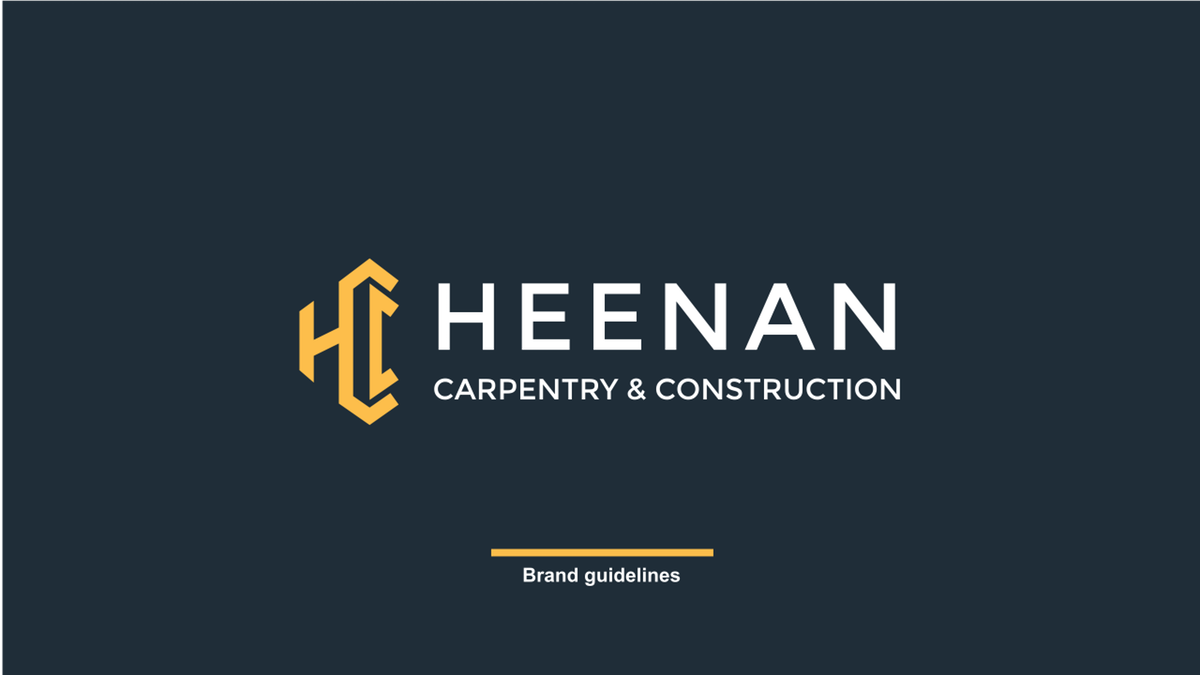 Business Card and Brand Guide for Heenan