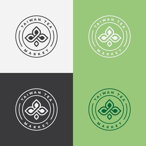 logo concept for taiwan tea market