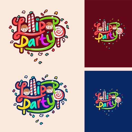 logo concept for lollipop party